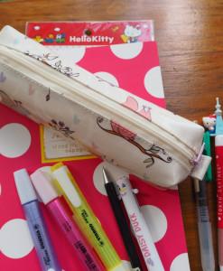 กล่องดินสอ/กระเป๋าดินสอ ลายกระรอกชมพู กระทัดรัด กันน้ำ กันฝน