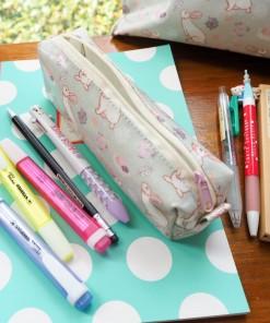 กล่องดินสอ/กระเป๋าดินสอ ลายกระต่ายโทนพาสเทล กระทัดรัด กันน้ำ กันฝน