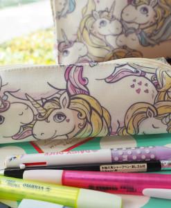 กล่องดินสอ/กระเป๋าดินสอ ลายยูนิคอน Pony กระทัดรัด กันน้ำ กันฝน