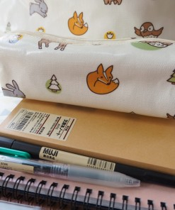 กล่องดินสอ/กระเป๋าดินสอ ลายกระต่ายเขียว กระทัดรัด กันน้ำ กันฝน