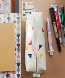กล่องดินสอ/กระเป๋าดินสอ ลายทิวเลี่ยน(โทนเข้ม) กระทัดรัด กันน้ำ กันฝน